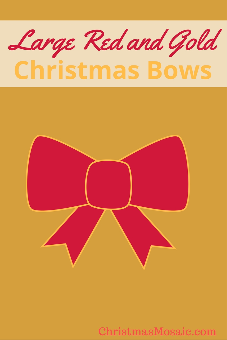 Large Red And Gold Christmas Bows Christmas Mosaic